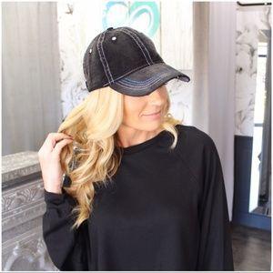 Black Corduroy baseball cap